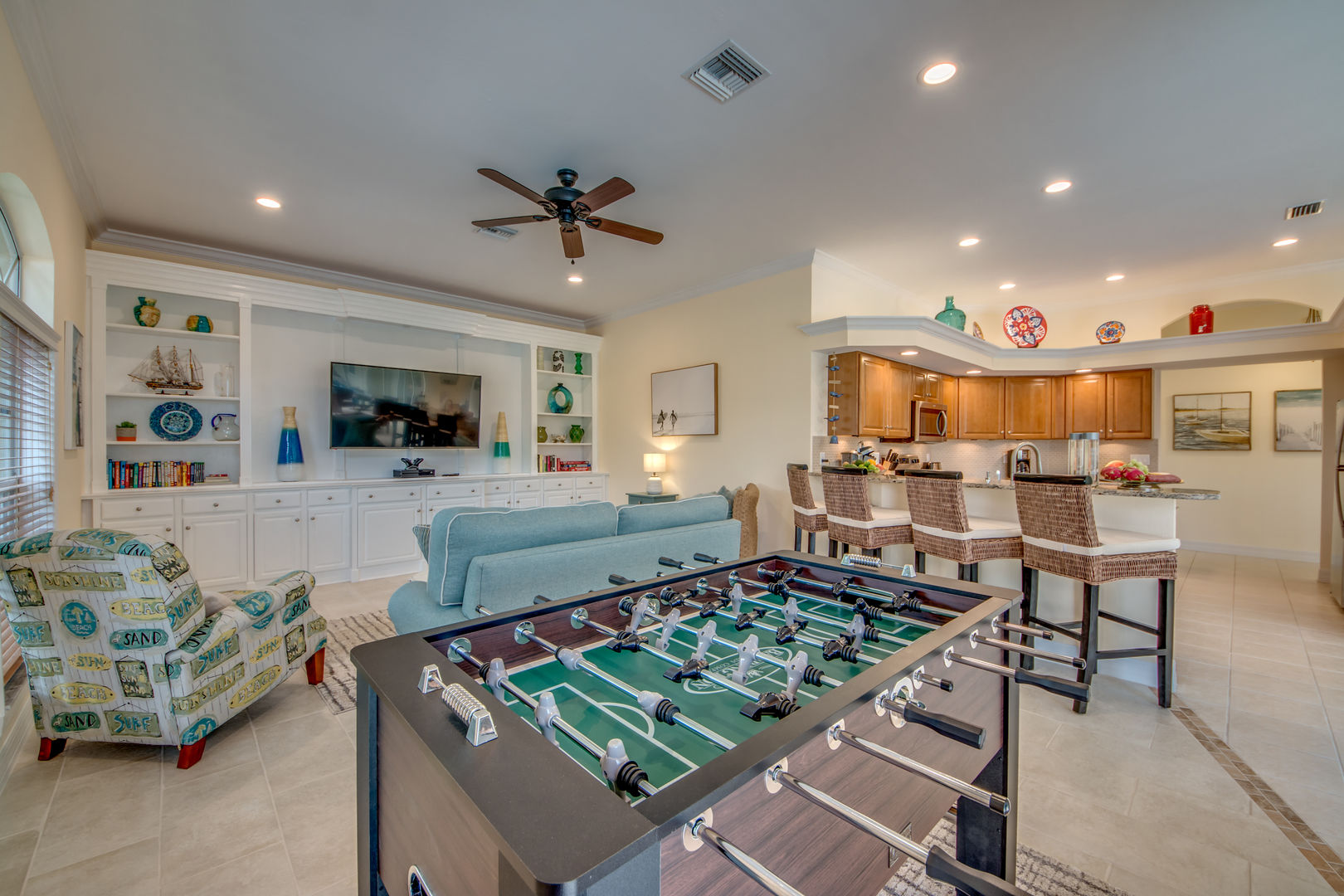 Casa Bonita Family Room with Foosball table